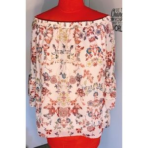 AGB Woman Floral Top Plus Size